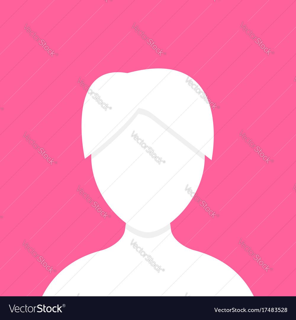 White figure of woman template vector image
