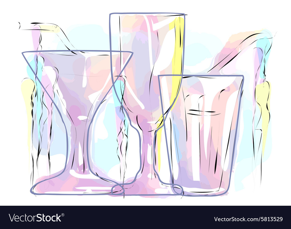 Abstract multicolored cocktail vector image