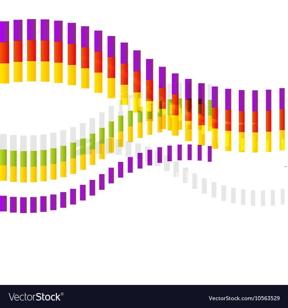 Abstract Shape Colorful Abstract Wave on White vector image