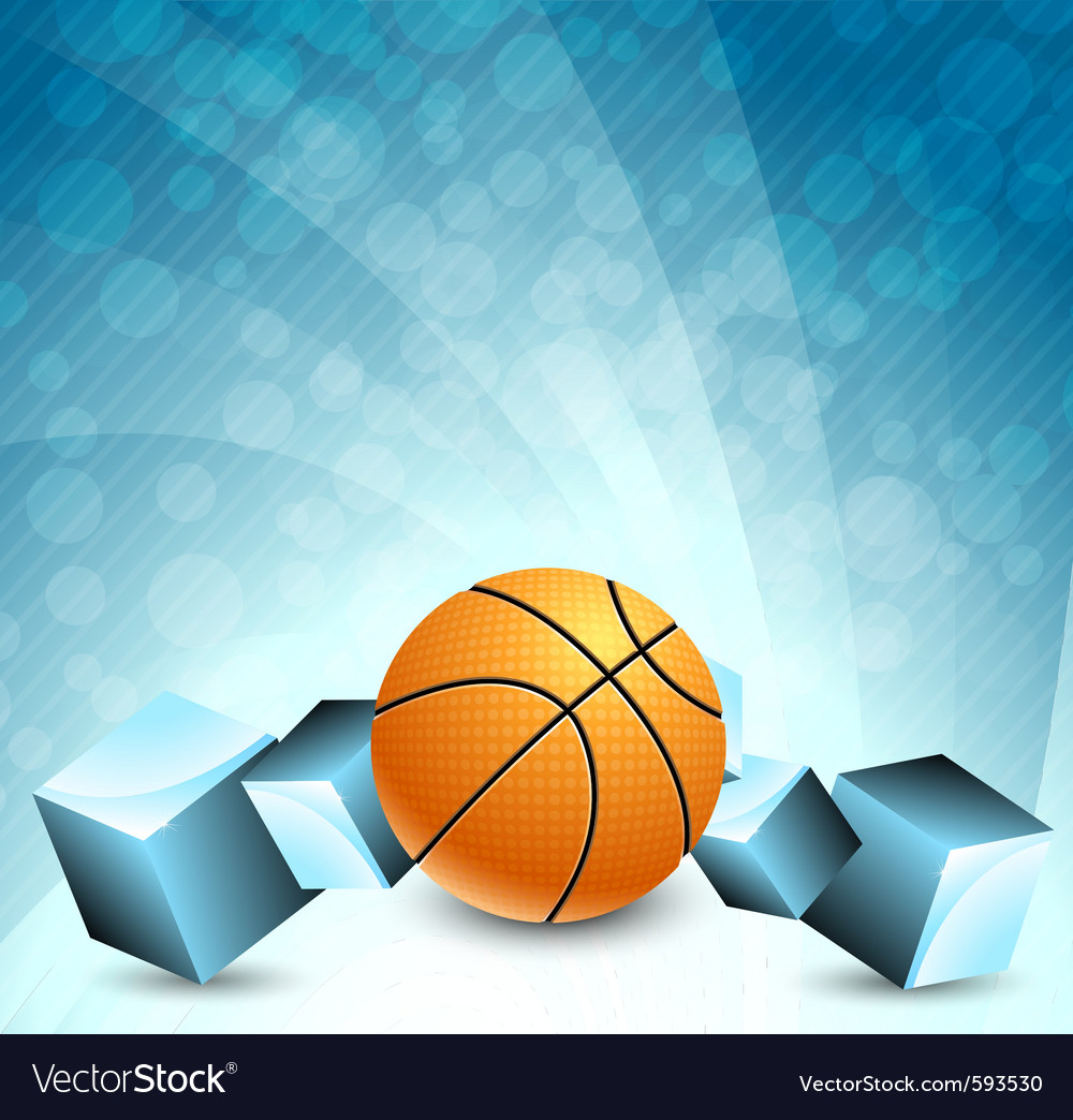 Basketball background Royalty Free Vector Image
