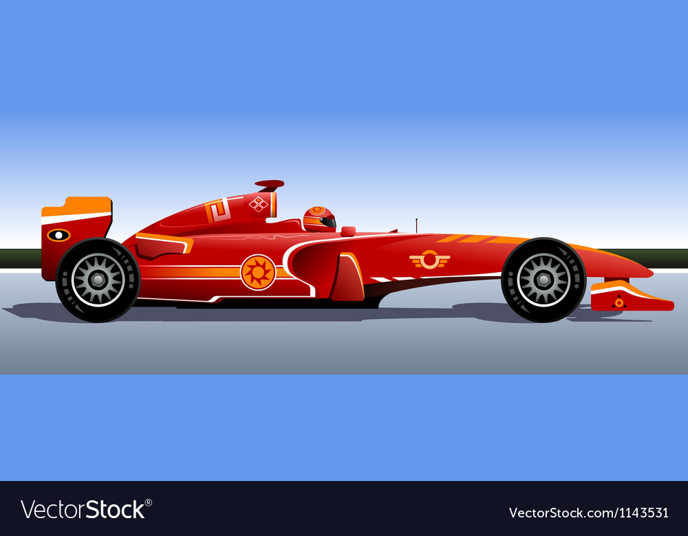 Racing bolide vector image