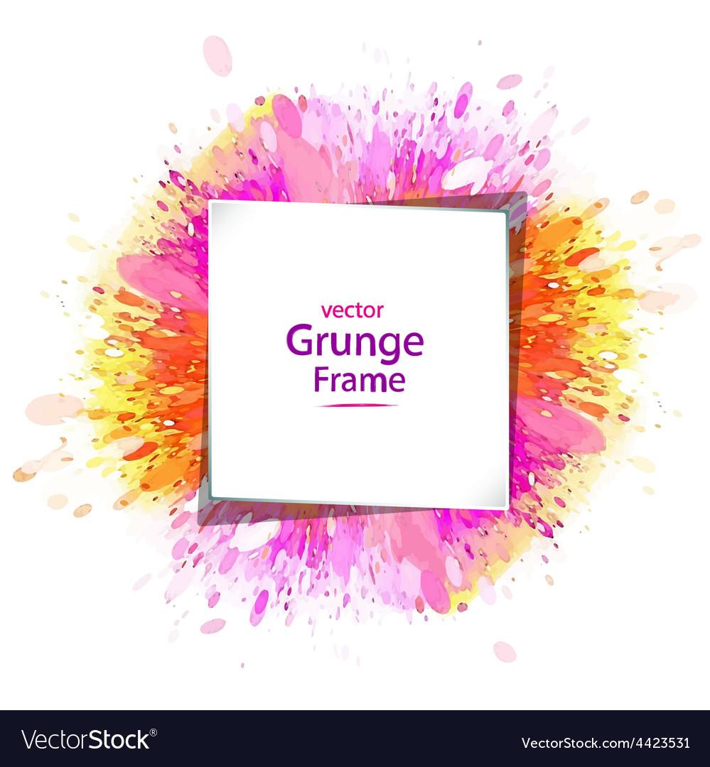 Grunge frame retro vector image