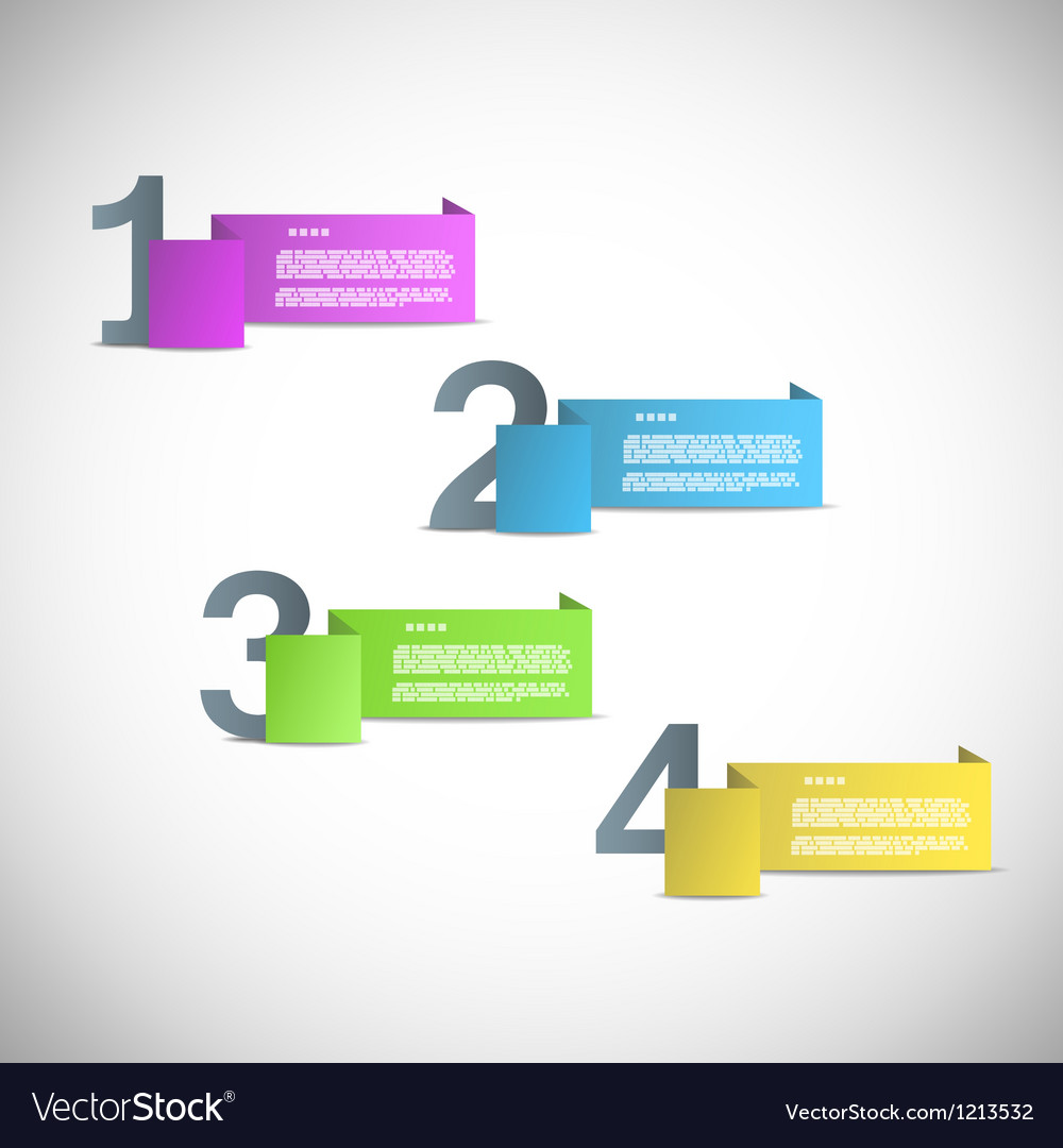 Paper templates for progress presentation vector image
