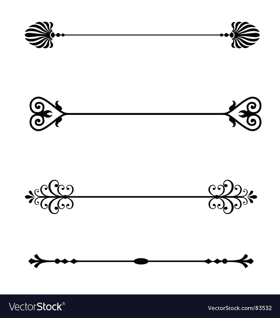 Page dividers Vector Image
