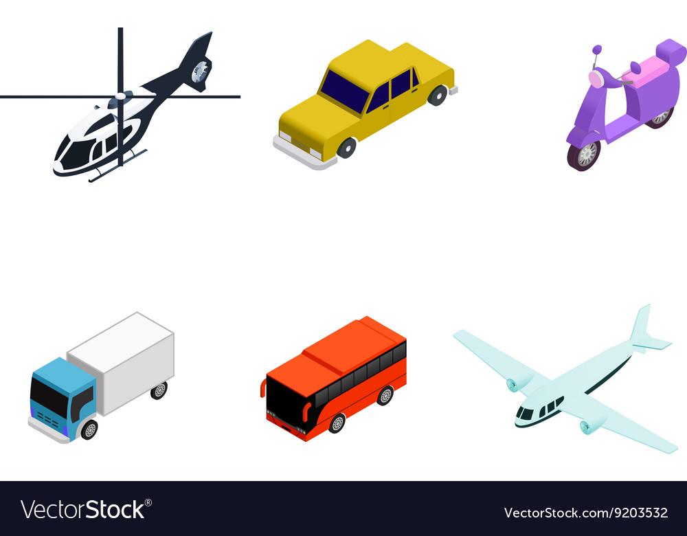 Isometric school bus vector image