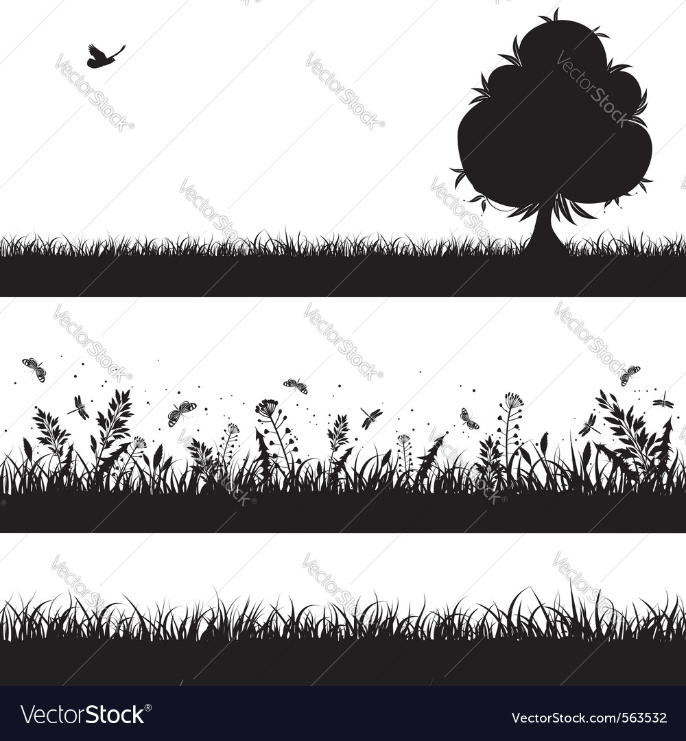 Nature background silhouette vector image