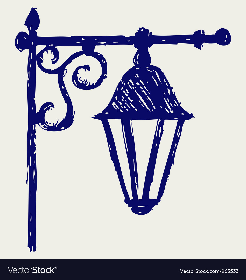 Old lamp Vector Image