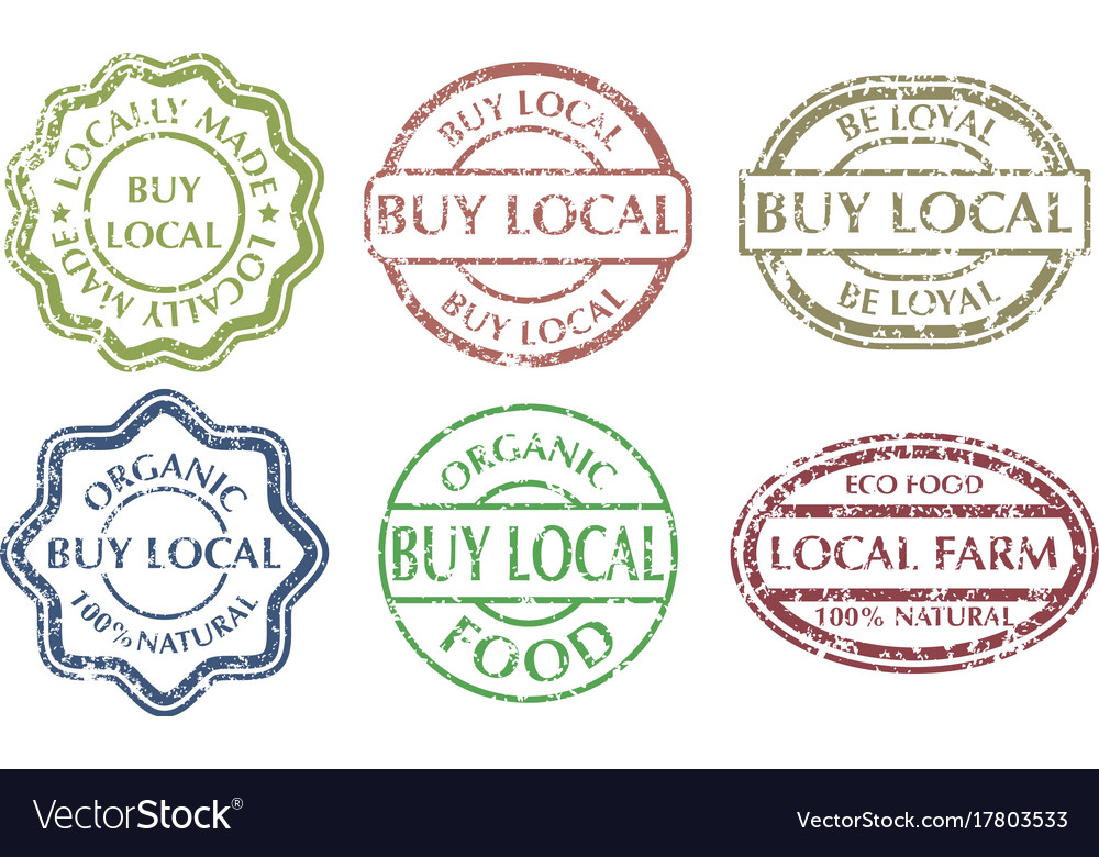 Buy local sign vector image