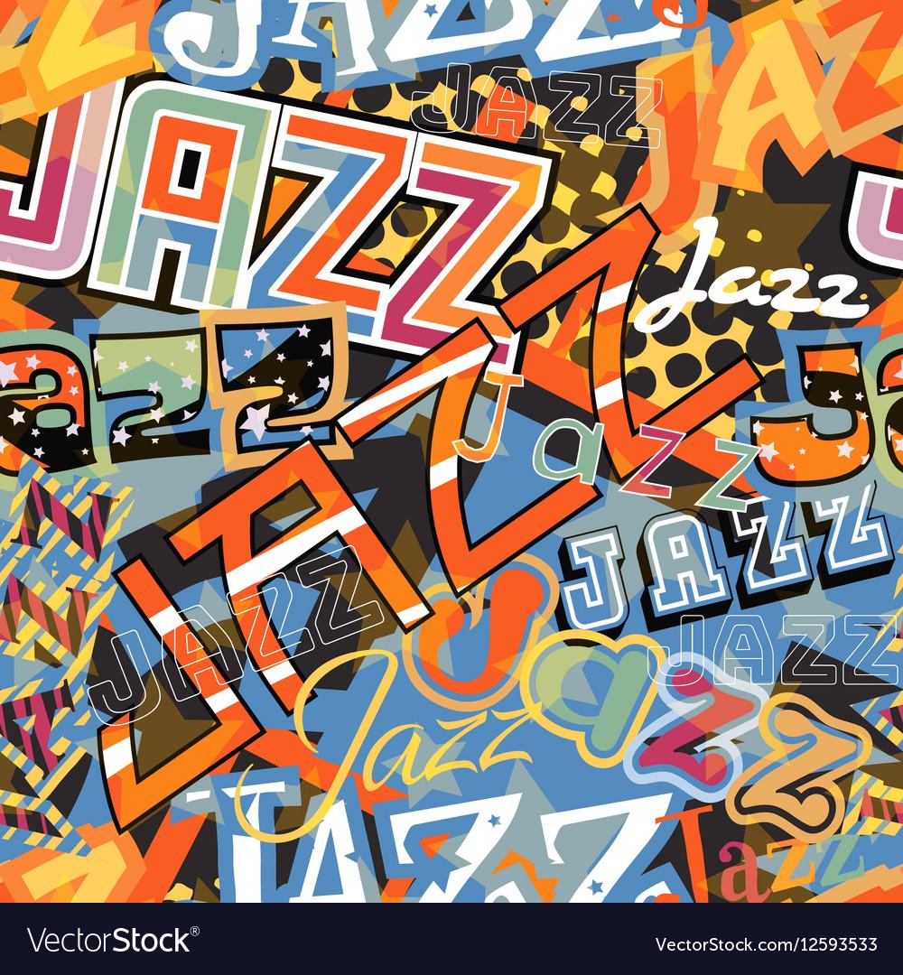 Jazz tile vector image