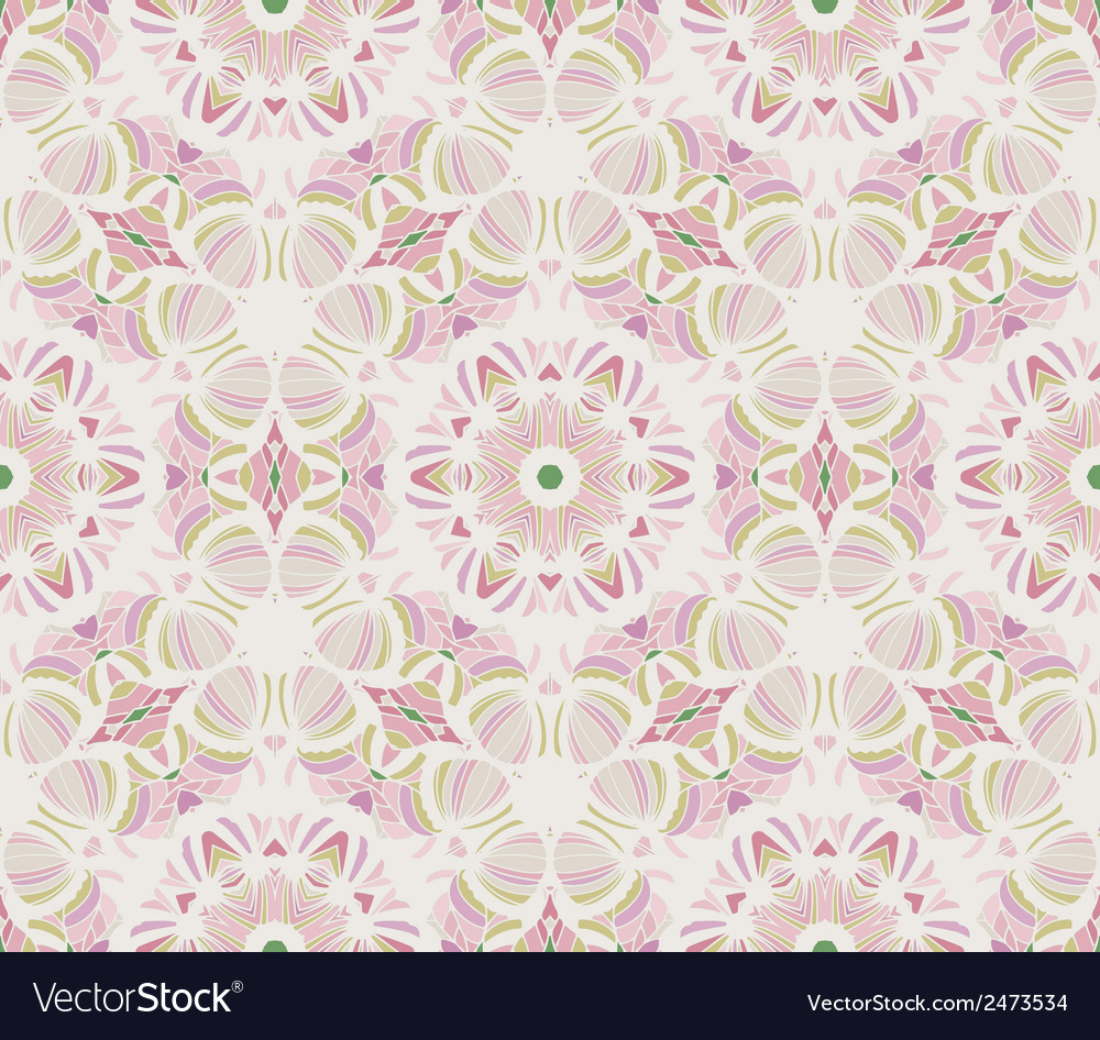 Abstract seamless retro pattern vector image