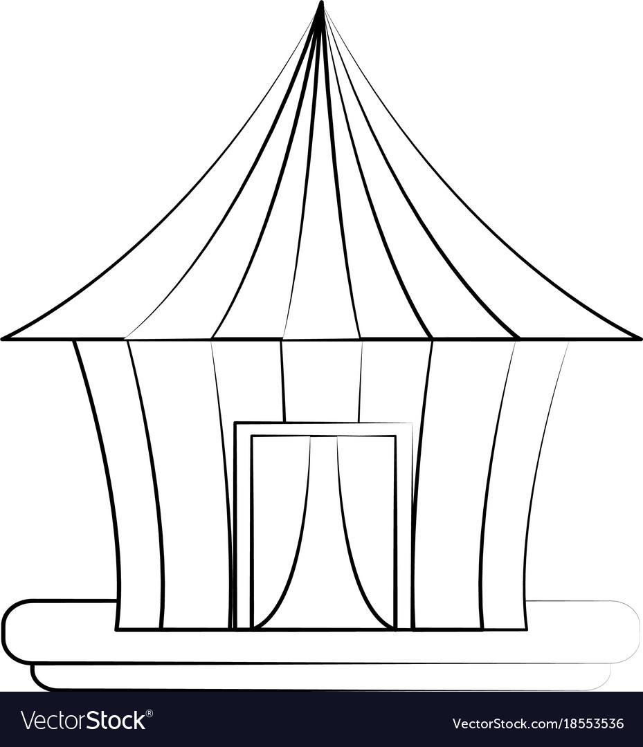 Circus carnival tent vector image  sc 1 st  VectorStock & Circus carnival tent Royalty Free Vector Image