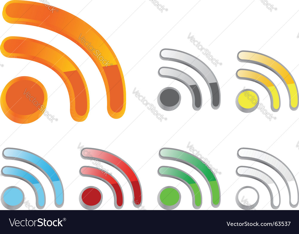 RSS buttons vector image
