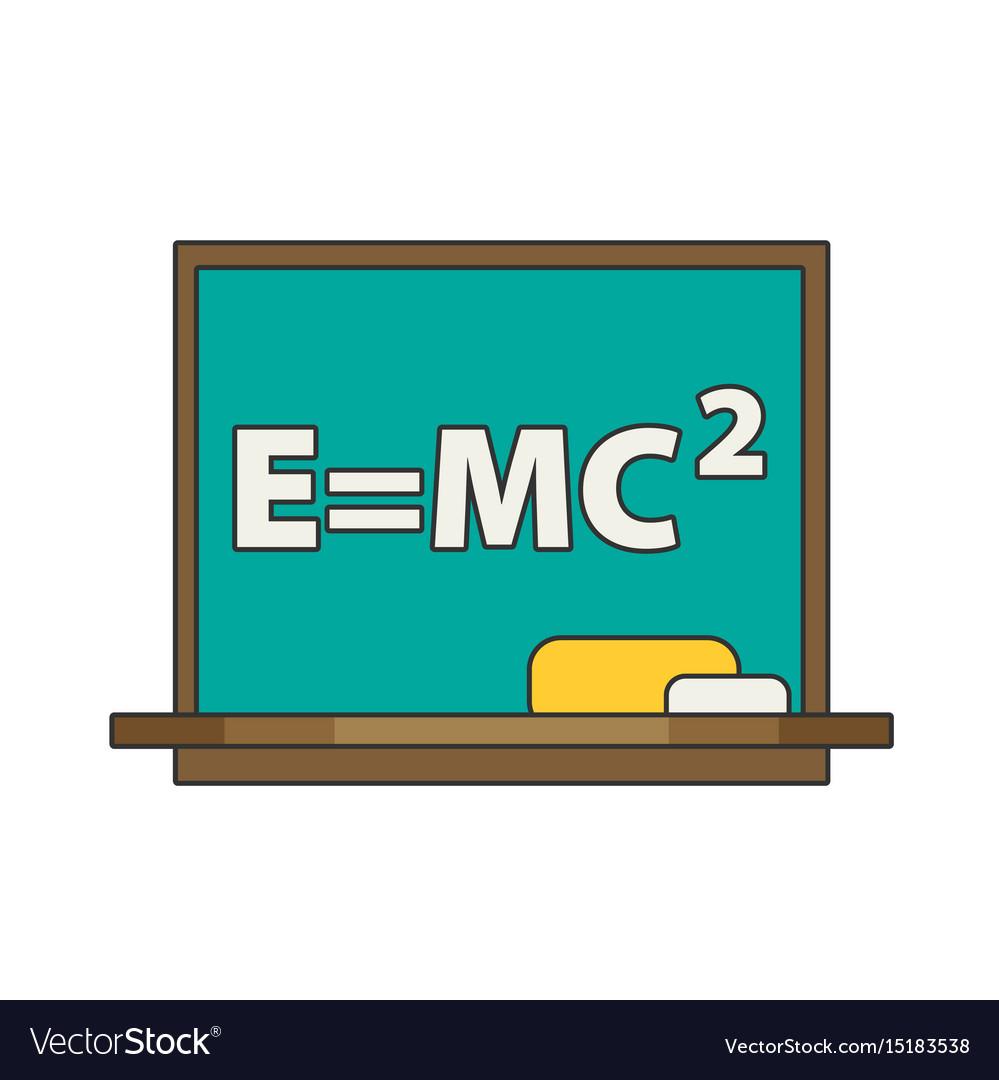 Blackboard flat vector image