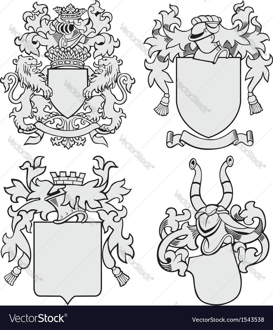 Set of aristocratic emblems No7 vector image