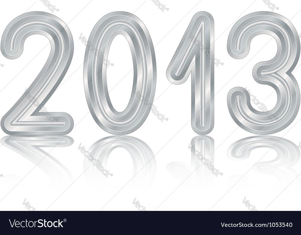 Metallic 2013 design vector image