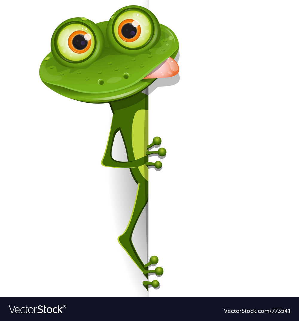 Merry green frog royalty free vector image vectorstock for Frog agency