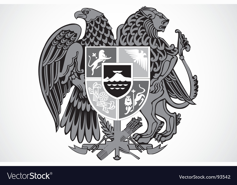 Shield ornament vector image