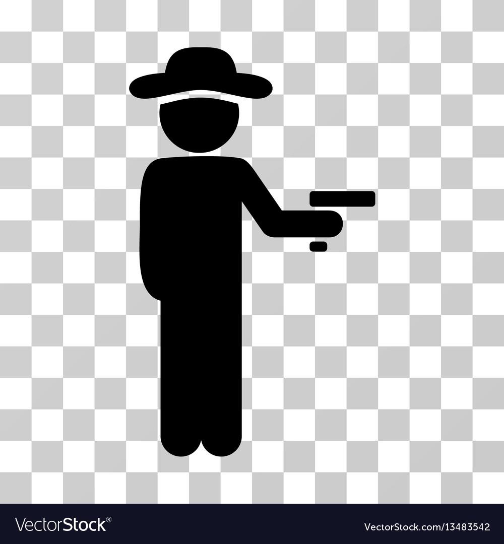Gentleman robber icon vector image