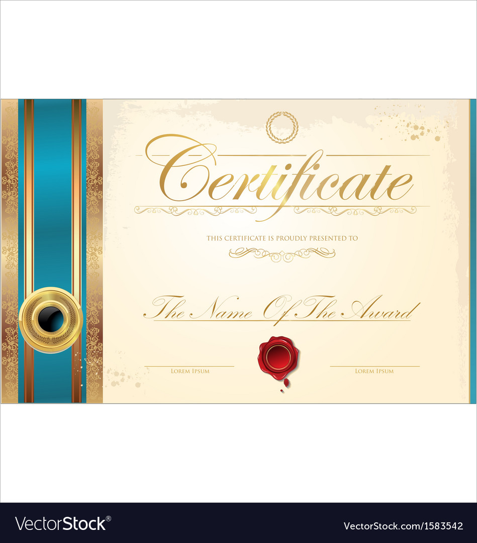 Luxury certificate template royalty free vector image luxury certificate template vector image yadclub Choice Image