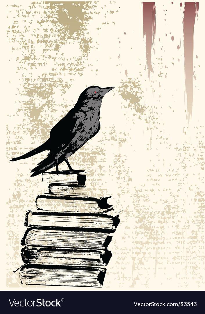 Raven grunge background vector image