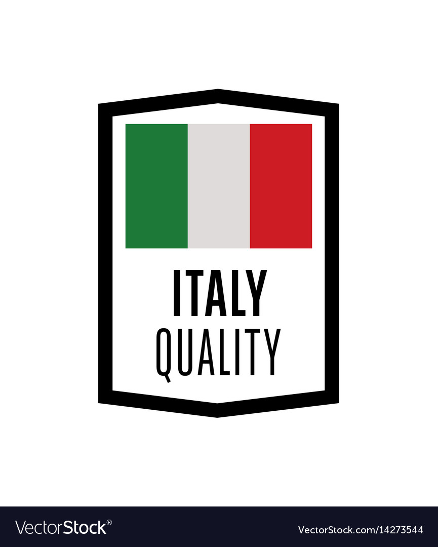 Italy quality isolated label for products vector image