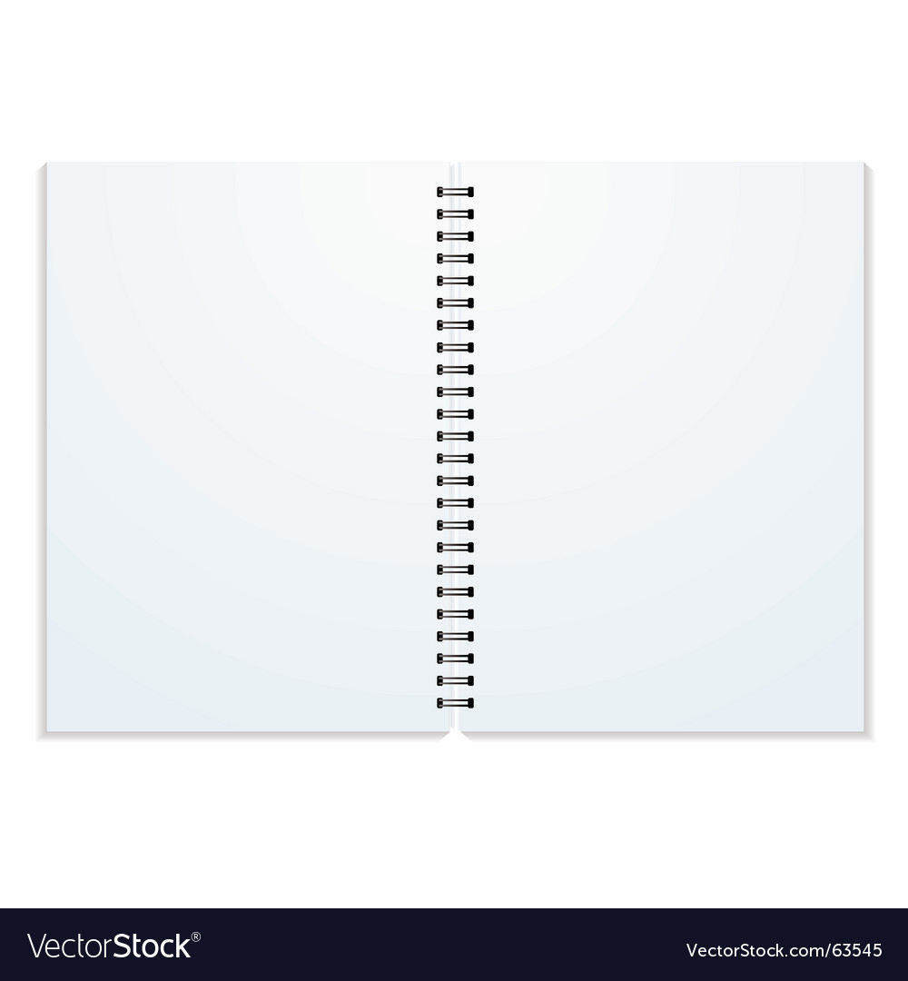 Ring binder vector image
