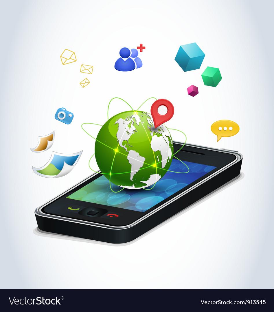 Smart phone technologies vector image