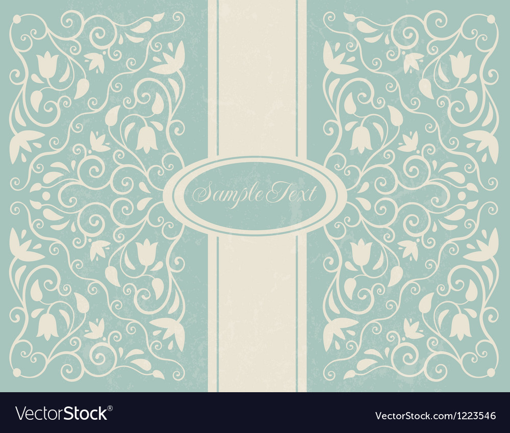 Ornate floral backgroung vector image