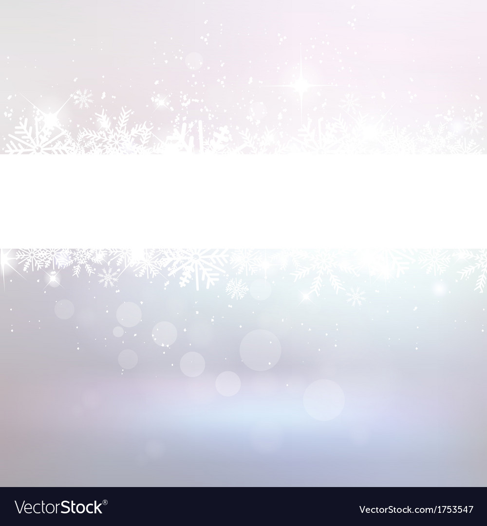 Winter bokeh background with snowflakes vector image