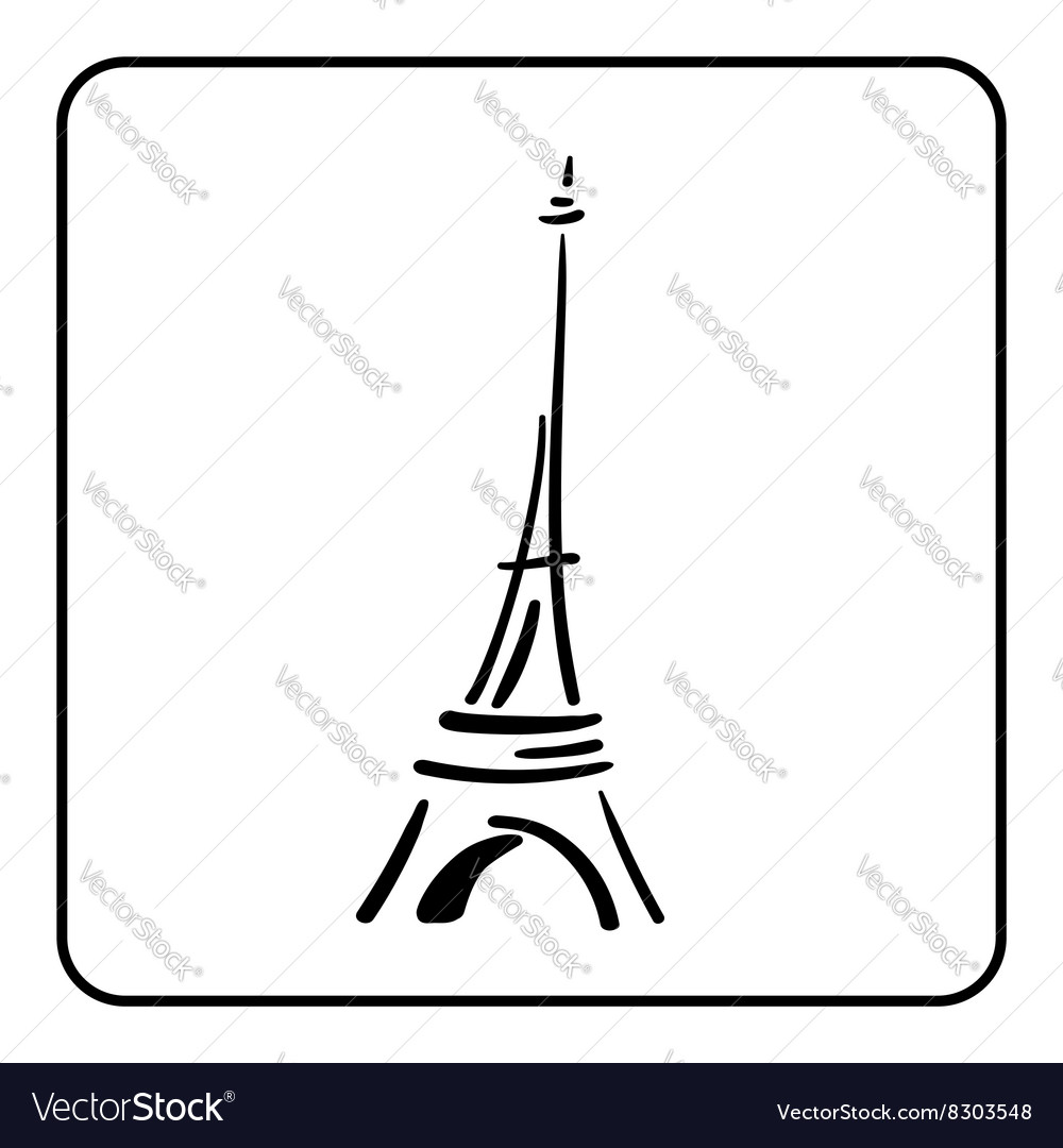 eiffel tower in a simple sketch style 1 royalty free vector