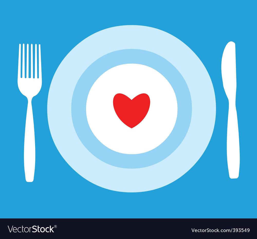 Eat healthy vector image