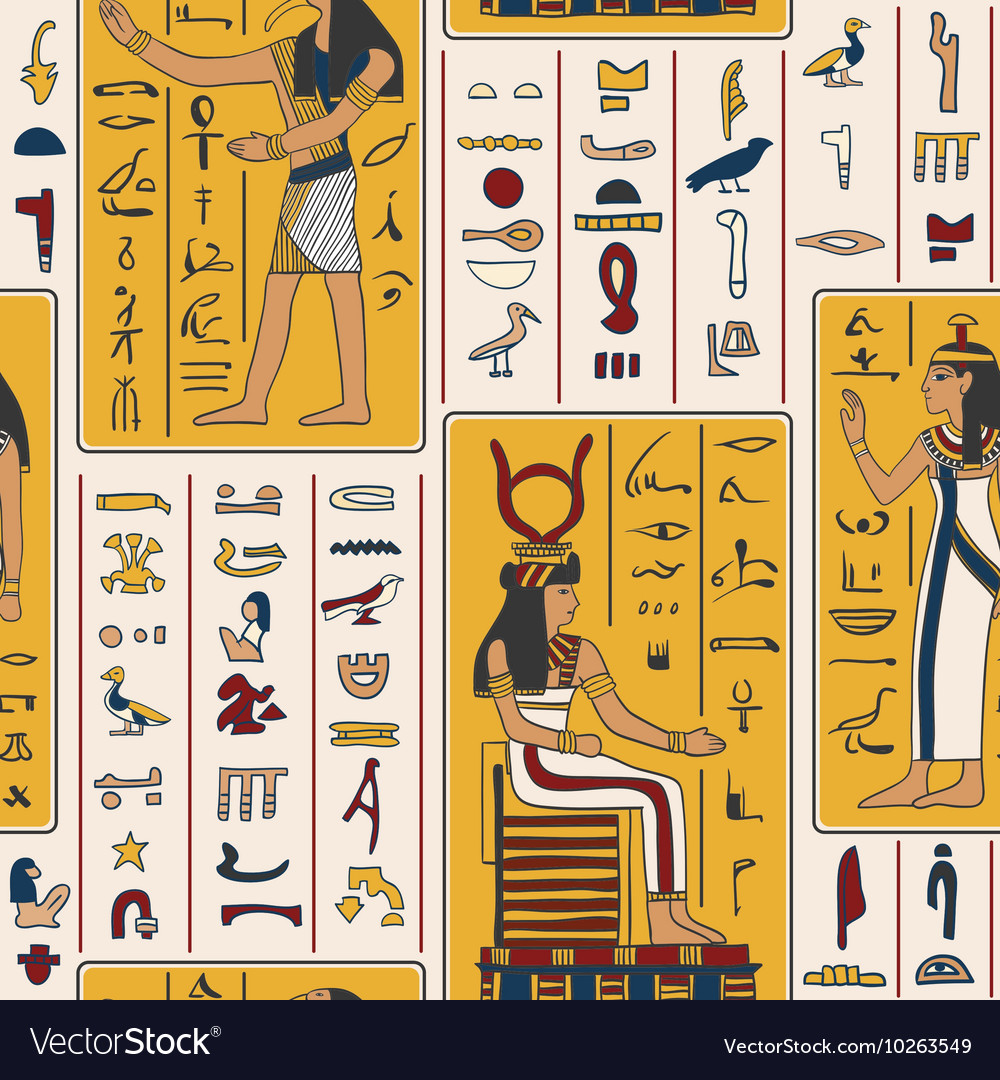Egyptian gods and ancient egyptian hieroglyphs vector image egyptian gods and ancient egyptian hieroglyphs vector image biocorpaavc