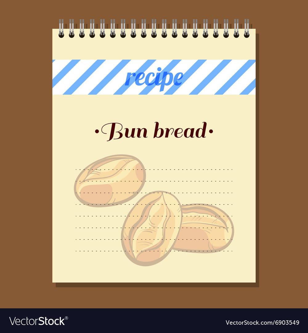 Recipe Book Bun Bread vector image