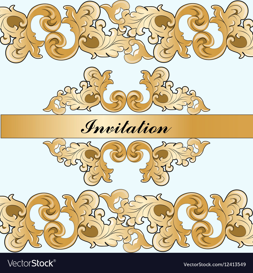 Royal imperial classic invitation royalty free vector image royal imperial classic invitation vector image stopboris Image collections
