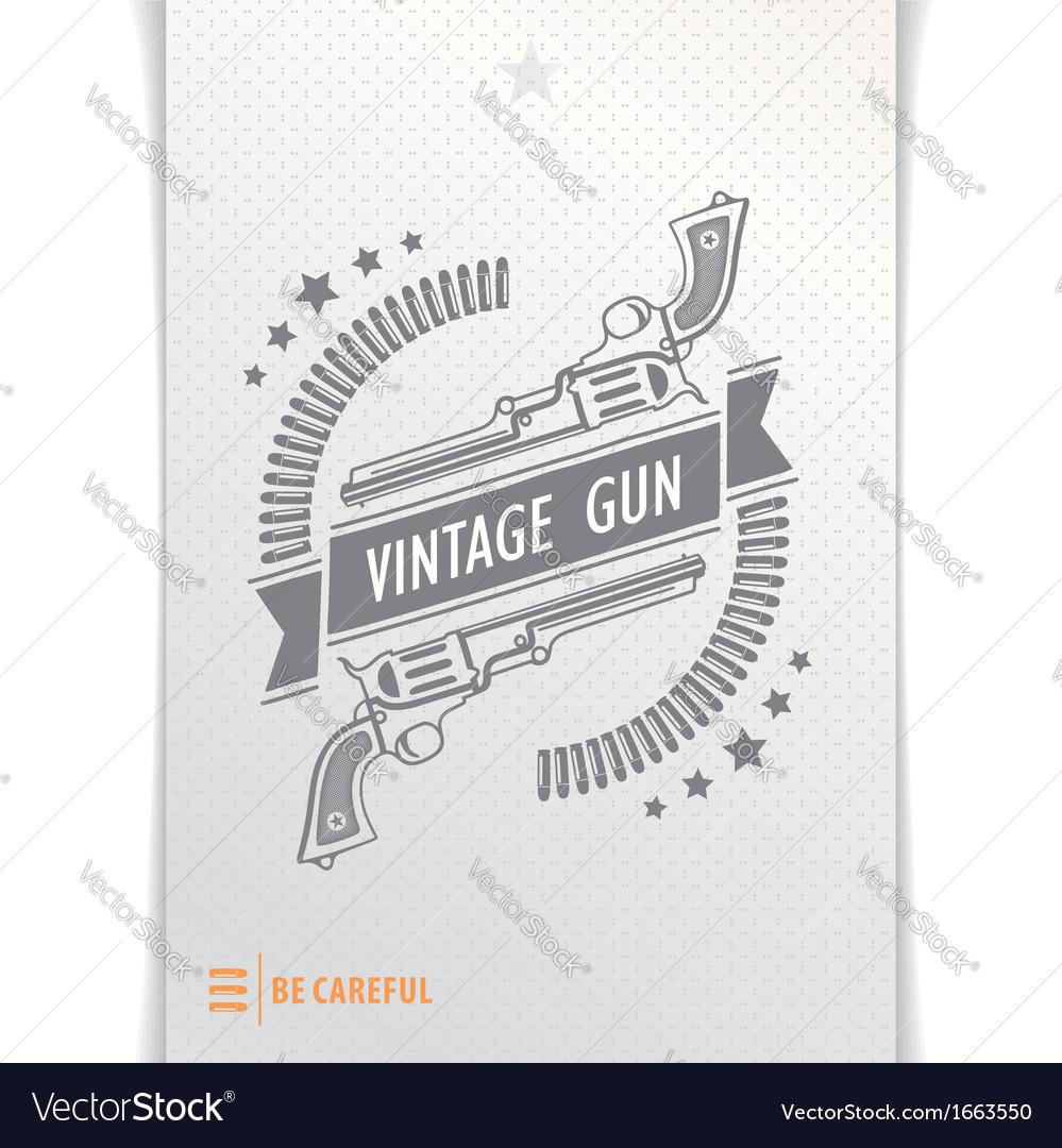 Gray graphic pattern guns and bullets vector image