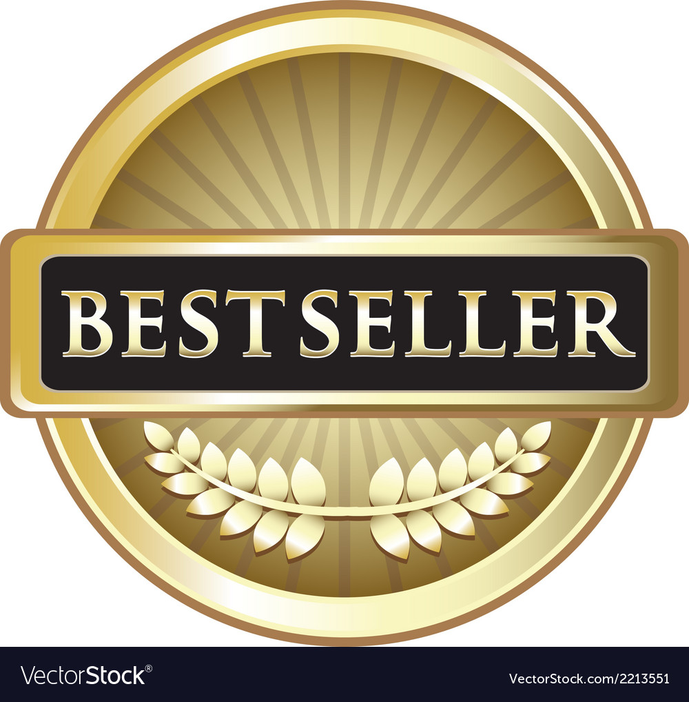 Best Seller Gold Award vector image