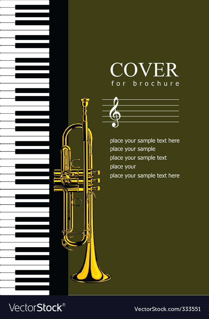Music Brochure Cover Royalty Free Vector Image