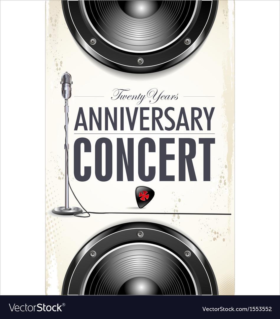 Anniversary Rock concert poster vector image