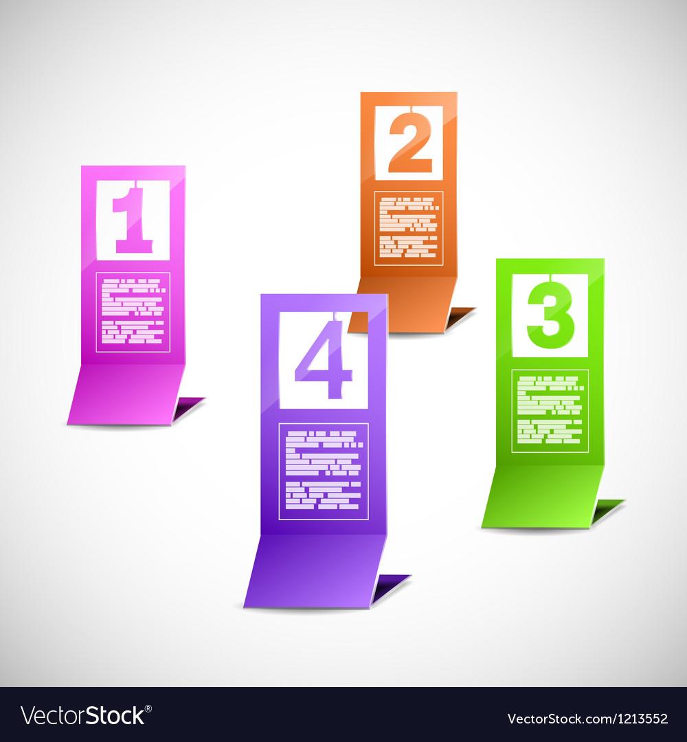 Color paper progress figures vector image
