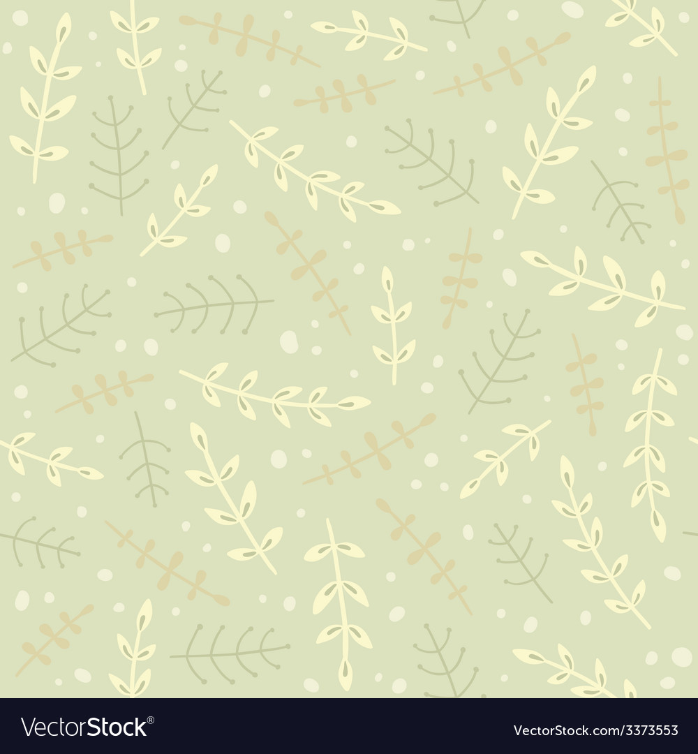 Green branches seamless pattern vector image
