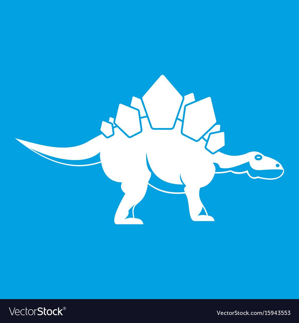 Stegosaurus dinosaur icon white vector image