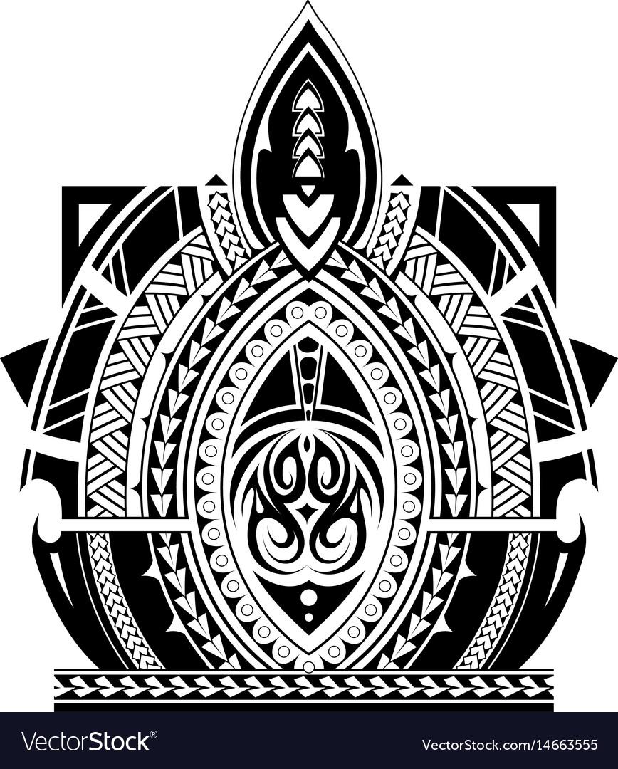Maori style tattoo sleeve royalty free vector image for Vector tattoo sleeve