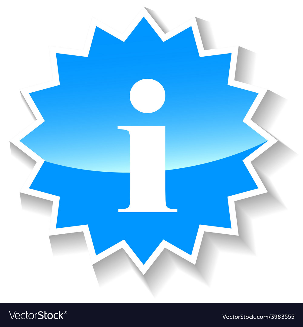 Info blue icon vector image