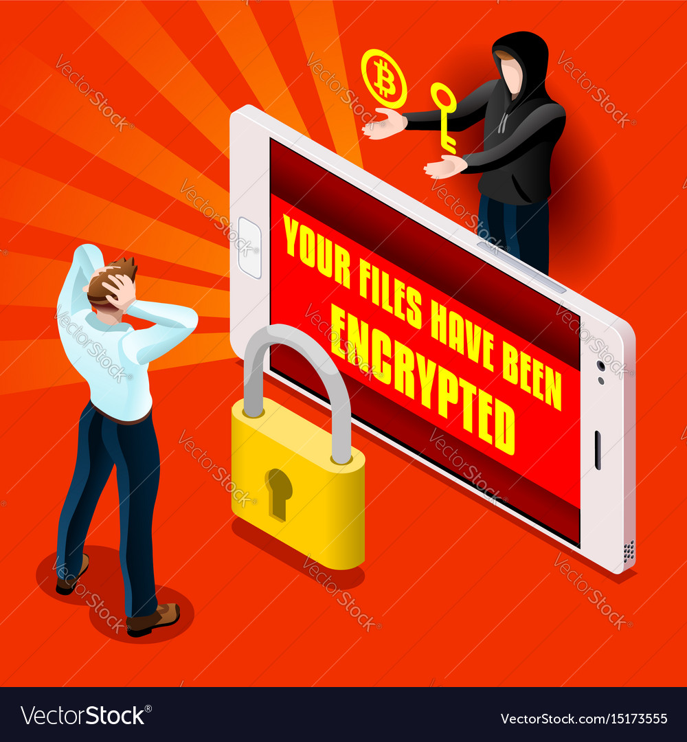 Ransomware malware hacker attack infographic vector image