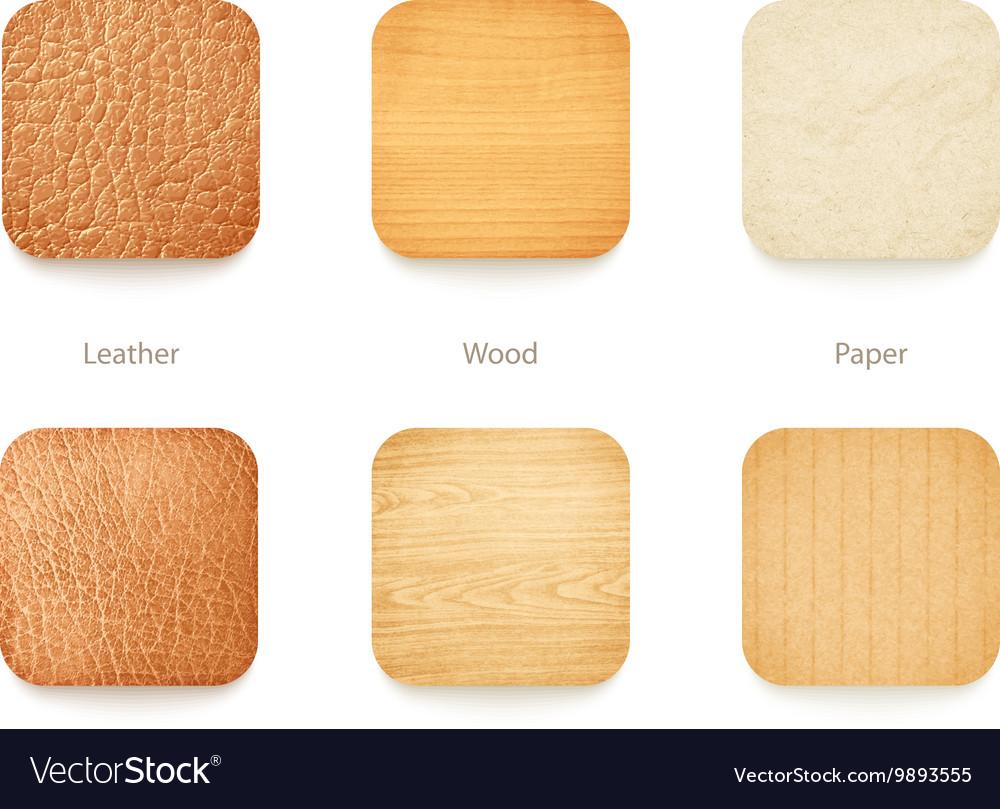 Textures set vector image