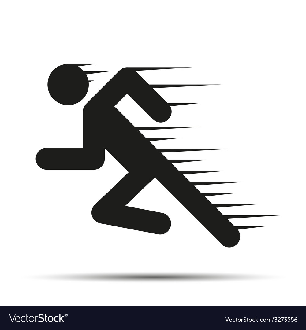 running people in motion simple symbol of run vector image purchase clipart and fonts purchase clip art online