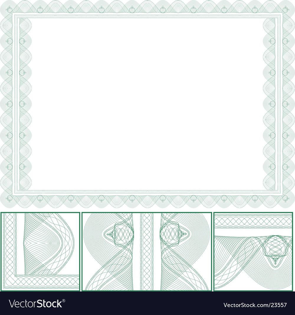 Certificate border Vector Image