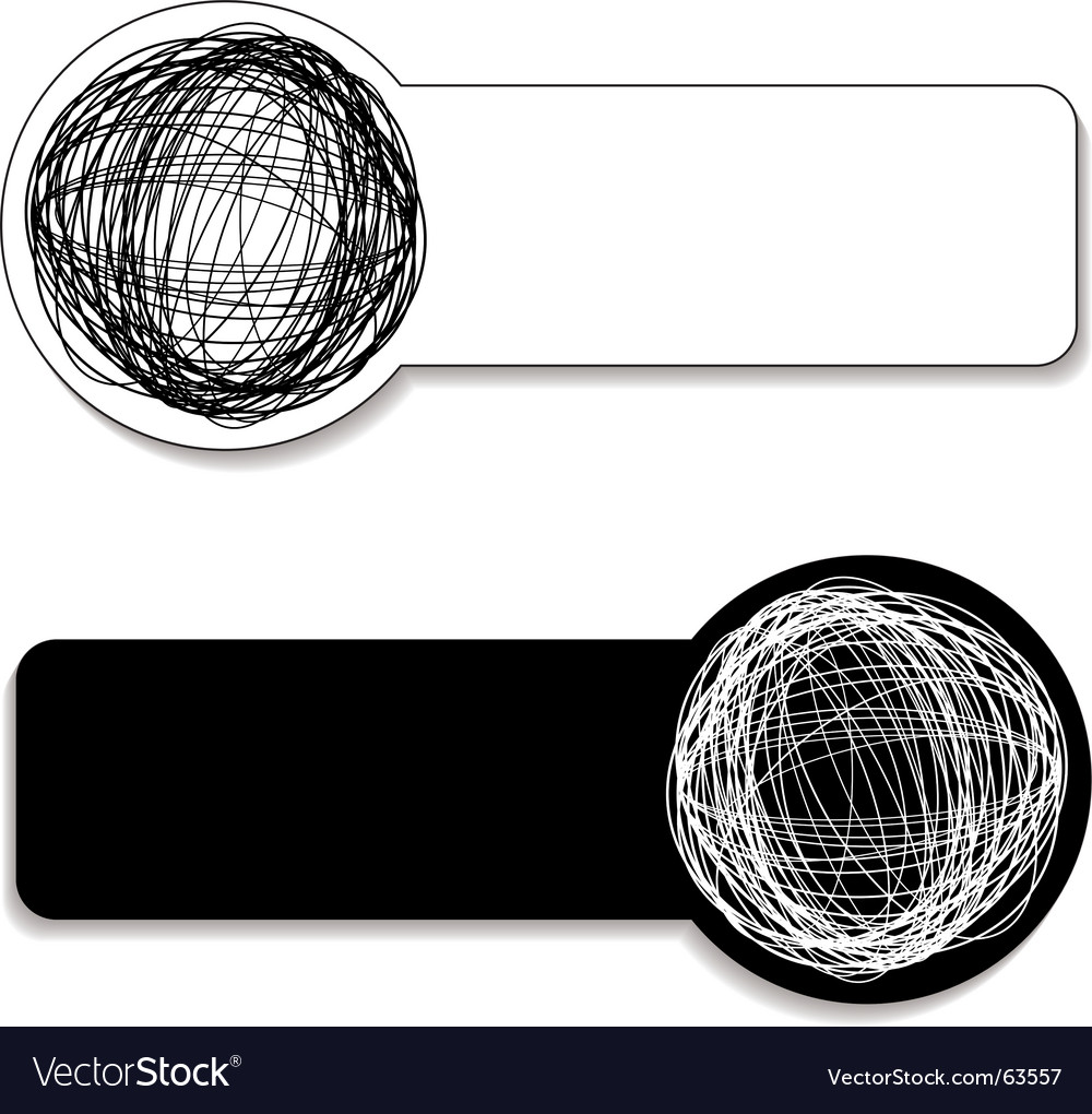 Scribble tag vector image