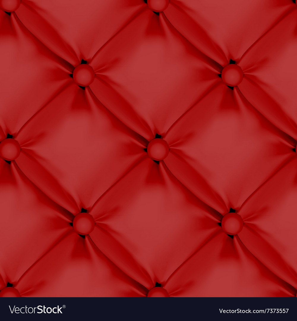 Red Seamless Leather Upholstery Pattern vector image