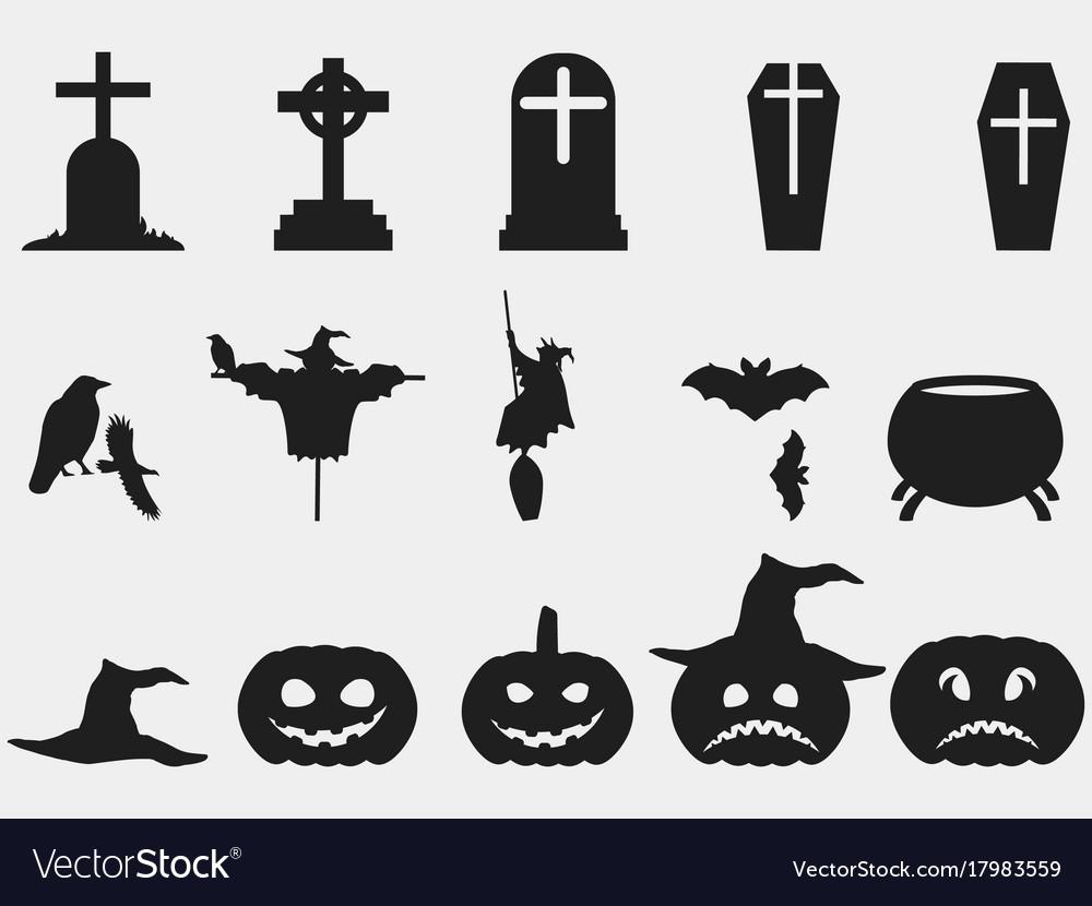 Halloween set of symbols witch hat pumpkin vector image halloween set of symbols witch hat pumpkin vector image buycottarizona